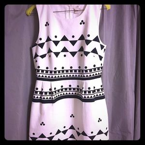 J Crew Dress. White/Navy. Size 4